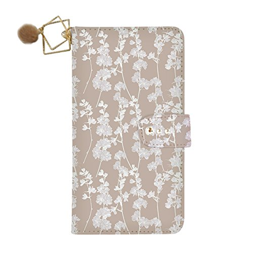 Galaxy S7 (4) flip case dia-032 Stephanie (mocha brown) Wallet Case Kickstand Slim Fit Heavy Duty Protection Screen Protector Flower Watercolor Fur Charm Verizon AT&T Sprint T-Mobile