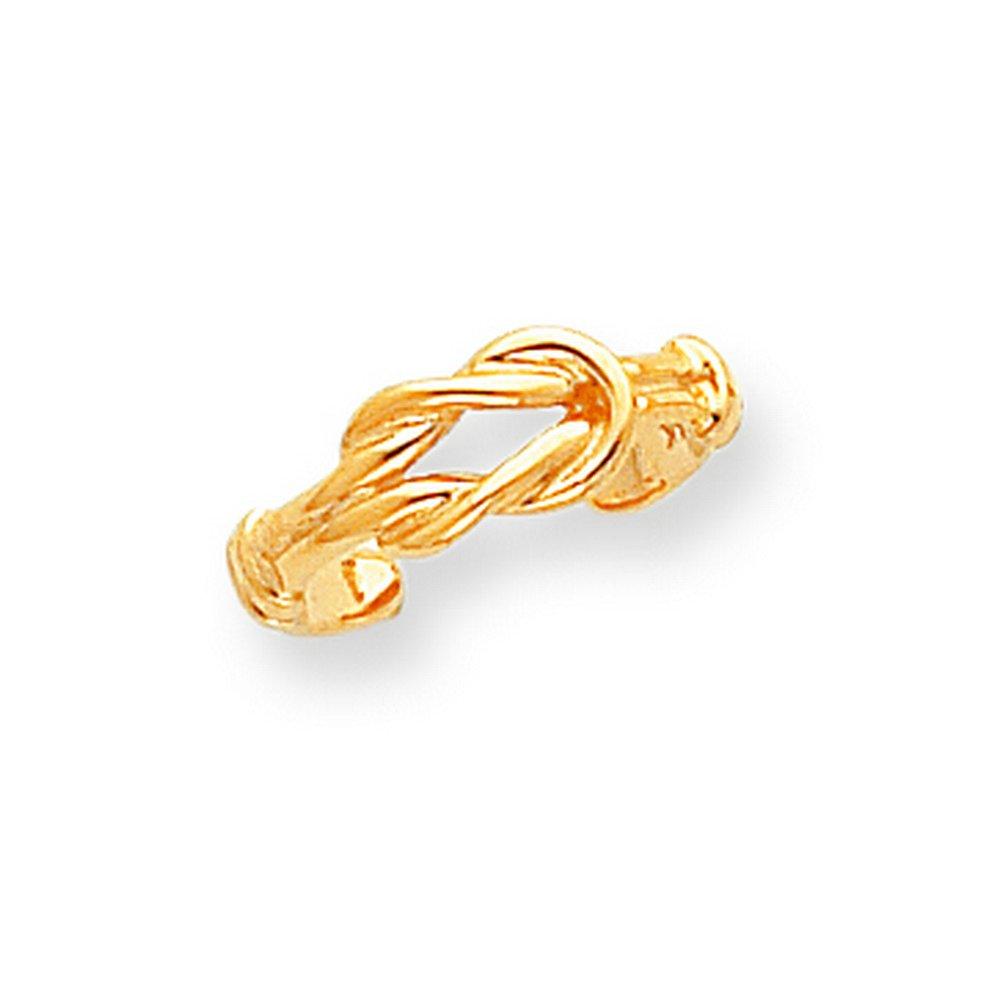 14k Love Knot Toe Ring
