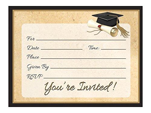 Creative Converting 8 Count Sophisticate Grad Invitation Cards -