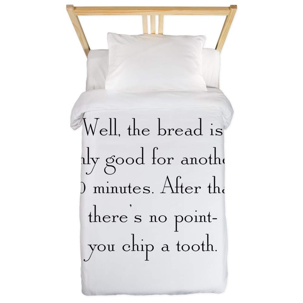 CafePress Chip A Tooth Twin Duvet Twin Duvet Cover, Printed Comforter Cover, Unique Bedding, Microfiber