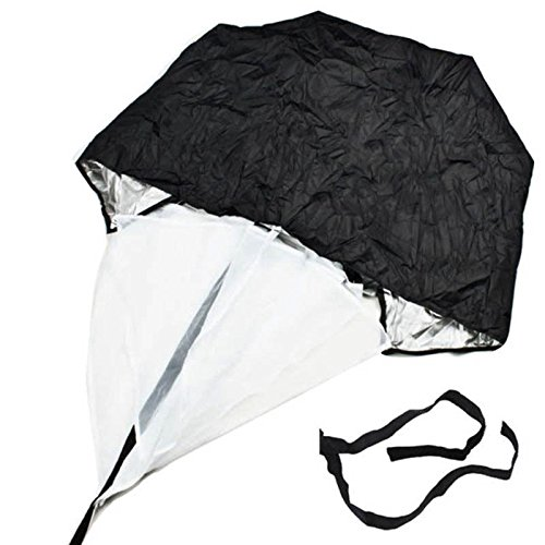FidgetFidget Training Tool Hot 56'' Speed Resistance Parachute Running Chute Football Exercise Black by FidgetFidget