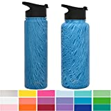Simple Modern 32 oz Summit Water Bottle - Stainless Steel Hydro Swell Flask +2 Lids - Wide Mouth Metal Double Wall Vacuum Insulated Reusable Aluminum 1 Liter Cold Leak Proof -