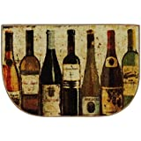 Mohawk Home New Wave Wine Row Printed Rug, 1'8x2'6 Slice, Multi
