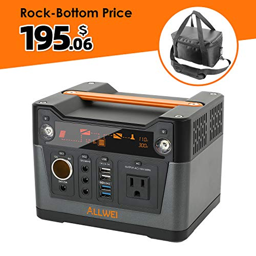 300W Portable Power Generator Lithium Portable Power Station 288Wh CPAP Backup Battery Pack Power Source Supply 110V AC Outlet, QC3.0 USB, 12V/24V DC, Solar Generator inverter for Camping Fishing Home best to buy