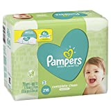 Pampers Baby Wipes Complete Clean UNSCENTED 3 Refills Packs for Dispenser Tub, Hypoallergenic and Dermatologist-Tested