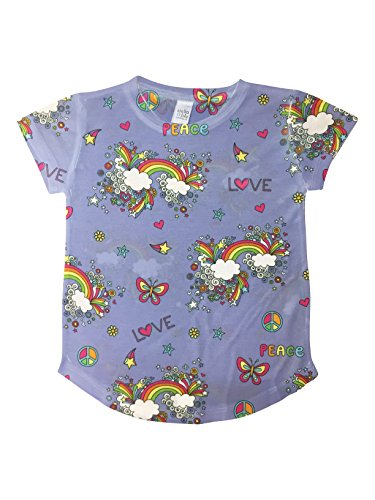 Stella Blu Clothing Little Girls Doodles Relaxed Fit Tee  2T  Multi