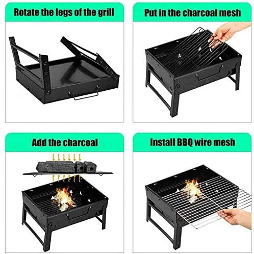 LUCKING Grill sans fumée Ménage Charbon de Bois Barbecue Grill Barbecue Grill Portable pour Camping