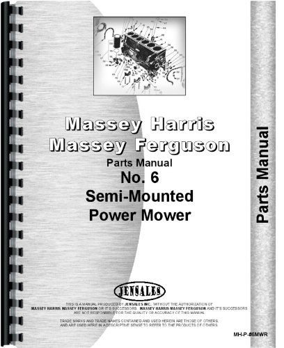 Massey Harris 6 Sickle Bar Mower Parts Manual