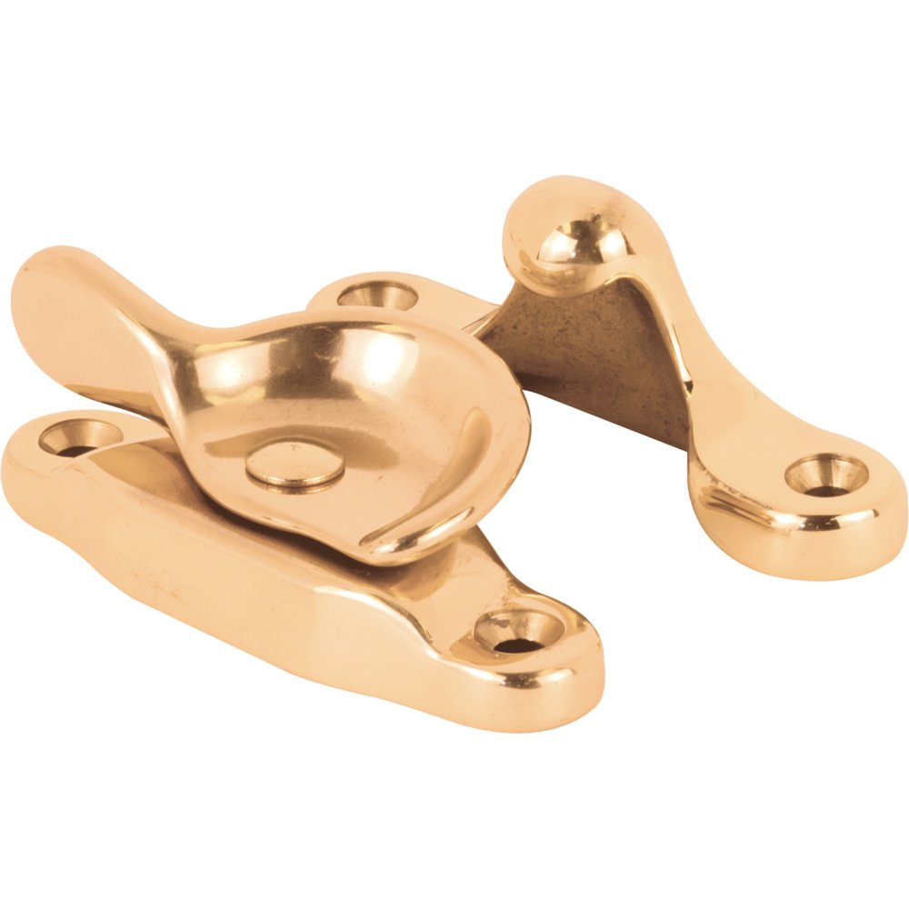 Slide-Co 172414 Window Sash Lock, Cam Action, Heavy Duty Polished Solid Brass