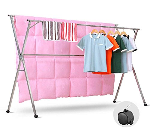 HTTH Heavy Duty Stainless Steel Foldable Extendable Laundry