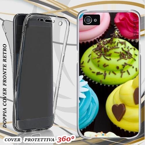 CUSTODIA COVER CASE DOLCETTI PATTERNS PER IPHONE 5 FRONT BACK