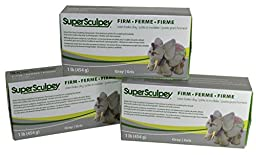 Sculpey Super Sculpturing Compound Firm Gray Clay Pack of 3