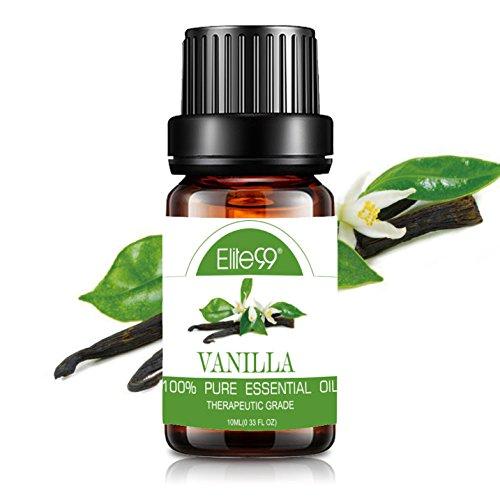 Elite99 Essential Oil Aromatherapy Vanilla Pure Oil for Diffuser Natural Theraputic Grade Oil 10ML