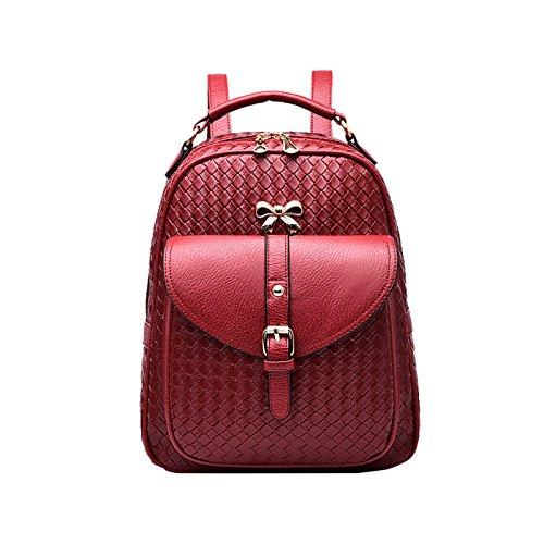 Women's Tisdaini Handbag Handbag Women's Woolen Messenger Handbag Wine Wallets Red Shoulder Women's Business Fashion Bag Weave PrxPB