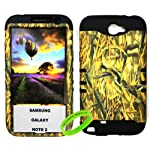 Cellphone Trendz Samsung Galaxy Note 2 N7100- HARD & SOFT RUBBER HYBRID ROCKER ARMOR CASE – CAMO HUNTER SERIES DUCKS (Black)