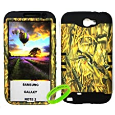 Cellphone Trendz Samsung Galaxy Note 2 N7100- HARD & SOFT RUBBER HYBRID ROCKER ARMOR CASE – CAMO HUNTER SERIES DUCKS (Black)