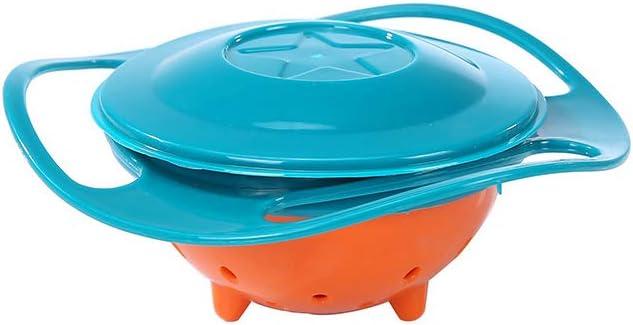 Ogquaton 1pcs Magic Gyro Bowl 360 Grad drehen auslaufsichere Sch/üssel mit Deckel Plastikschalen Praxis Futtern/äpfe f/ür Kinder Umweltfreundlich und praktisch gr/ün