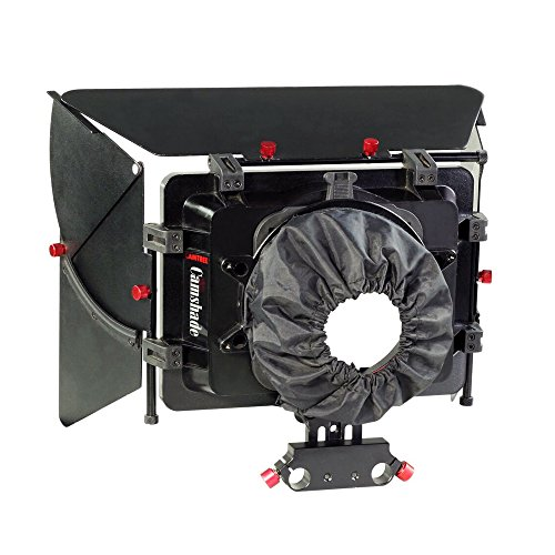Filter Box Dv Matte - CAMTREE Camshade Professional Wide Angle Matte Box with 15mm Rod Adapter for DSLR Video DV Camcorder Nikon Canon Sony Blackmagic Camera Lenses up to 105mm (MB-CMS)