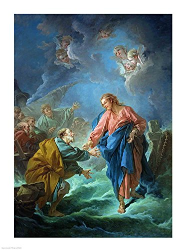 St. Peter Invited to Walk on The Water by Francois Boucher Art Print, 17 x 22 inches