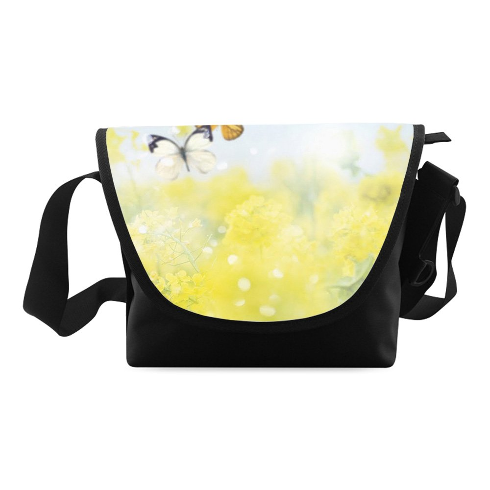 Messenger Bag Butterfly Printed Classic Messenger Bag One-side Printing