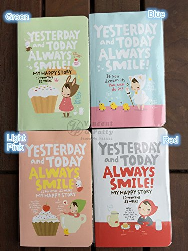 Cute Notebook Red Hat Girl Agenda Week Plan Diary Day Plannerjournal Record Stationery Office School Supplies Notebooks