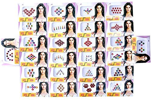 100 Different Packets of India Traditional Bindi Tika Tattoo by Uncle Duncun's Store NY