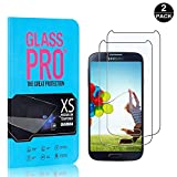 Galaxy S4 Screen Protector, UNEXTATI® Premium HD Anti Scratch Tempered Glass Screen Protector Film for Samsung Galaxy S4 (2 PACK)