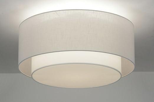 Deckenleuchte Modern lumidora deckenleuchte modern retro metall stoff amazon de beleuchtung