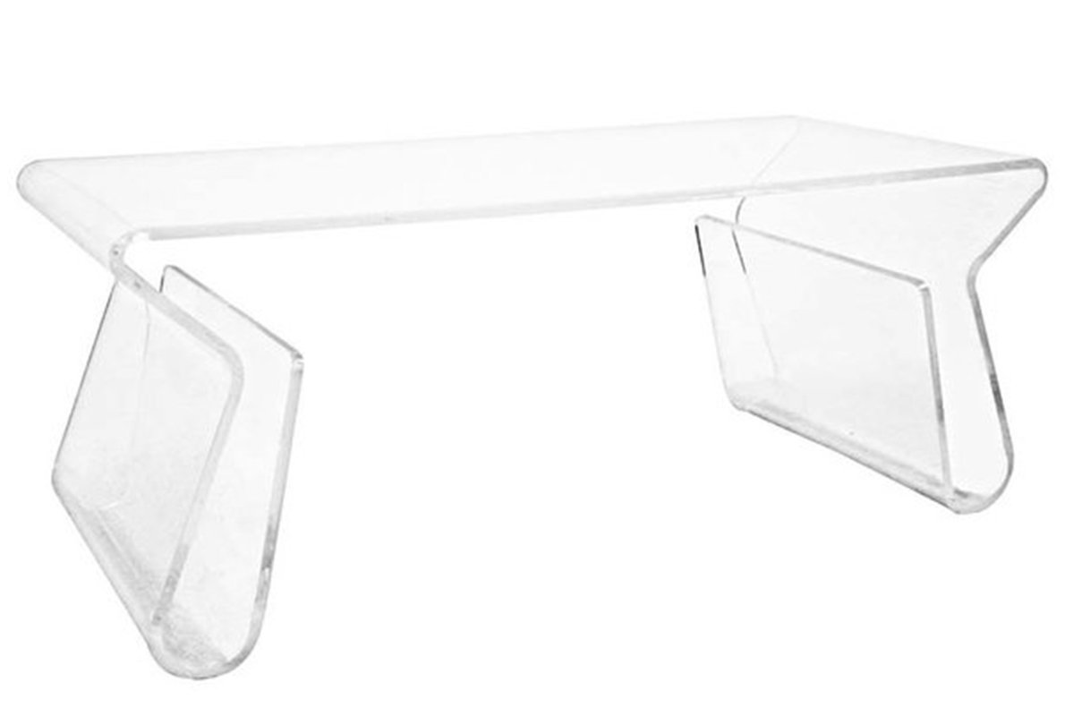 Mod Made Modern Magazine Rack Coffee Table, Clear