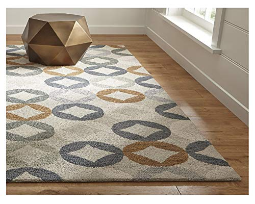 Crate and Barrel Destry Contemporary Handmade 100% Wool Rugs & Carpets (8'x10') (Barrel And Crate Repair)