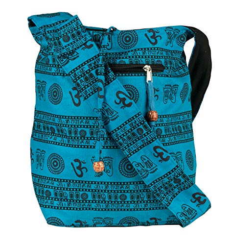 - Blue Patchwork Handmade Crossbody Large Hobo Shoulder Bag Hippie Boho Fashion Everyday Unique
