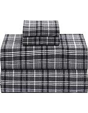 Ruvanti 100% Cotton 4 Piece Flannel Sheets Set - Deep Pocket - Warm - Super Soft