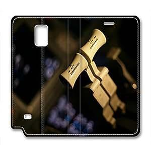 Cockpit Design Leather Case for Samsung Note 4 Action Bars