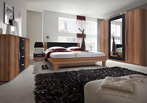 Schlafzimmer komplett 4-teilig 54033 kernnussrot / schwarz