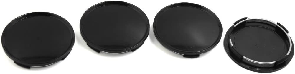 Lanlan 4pcs Black 63mm Diameter Wheel Center Hub Cap Cover Guard for Car Auto S1701060//C020
