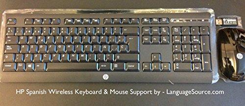 HP Spanish Wireless Keyboard & Mouse Hewlett Packard - La...