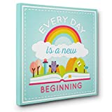 Everyday Is New Beginning Motivational Quote CANVAS Wall Art Home Décor