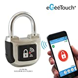 eGeeTouch Smart Padlock 2nd Gen UPGRADED with Patented DUAL Bluetooth + NFC Technologies for Apple, Android phones & Watch (Silver) DIGIPAS TECHNOLOGIES INC