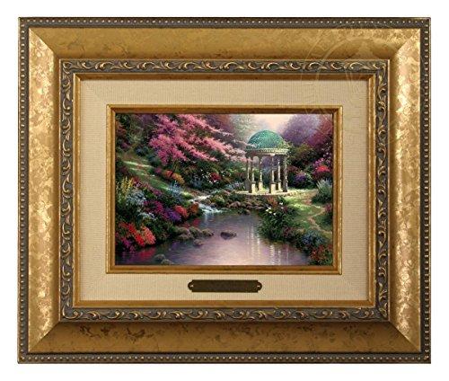 Pools of Serenity - Thomas Kinkade Brushwork (Gold Frame) (Serenity Kinkade Thomas Garden)