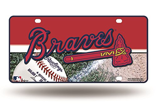 Atlanta Braves Car (MLB Atlanta Braves Metal Auto Tag)