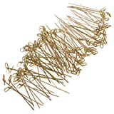 MonkeyJack Pack of 100 Bamboo Knot Catering Kebab Food Sticks Disposable Party Cocktail Picks