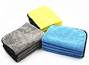 Premium Multipurpose Wash Cloth, Professional Microfiber Car Cleaning Towel, Ultra Soft Washcloths with High Absorbent Lint-Free Streak-Free for Car Home Kitchen Furniture 12 in. x 16 in. 12-Pack