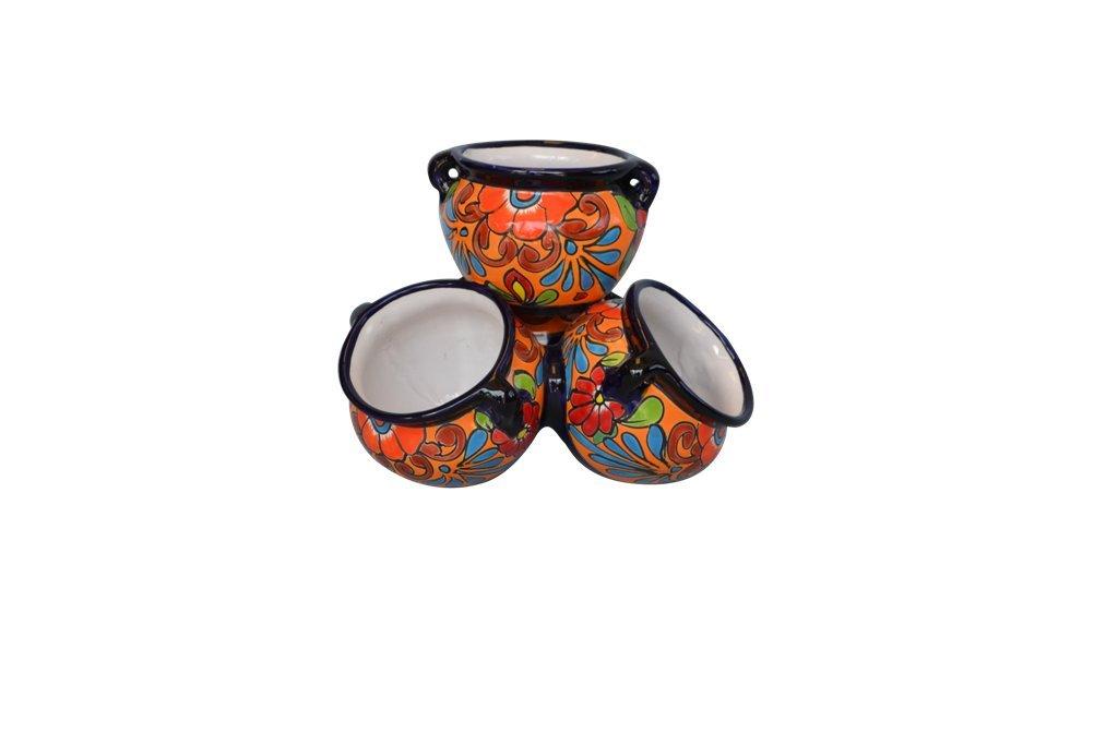 Talavera Cluster Pot (multi) by Talavera Pottery Store