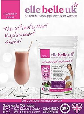 El Mejor Batido Sustitutivo de Comidas Para Mujeres – Sabor Delicioso a Chocolate Batido para Adelgazar Bajo en Calorías - Elle Belle UK – Por Fin una ...