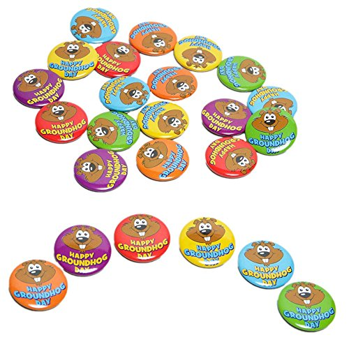Mini Groundhog Day Buttons