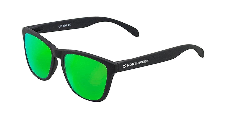 Gafas de sol Northweek | Mate black - logo blanco | lente verde polarizada