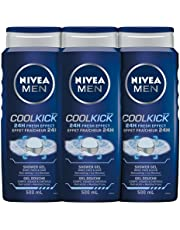 NIVEA Men Cool Kick Shower Gel (3x500ml), 3 In 1 Body Wash for Use As Body and hand Soap, Liquid Soap With 24H Cooling Effect (Pack Of 3), Fresh & Masculine, 1 Count