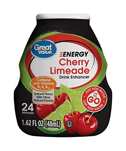 (Great Value Energy Cherry Limeade Drink Enhancer, 1.62)