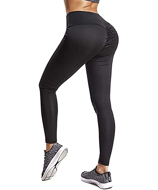 4458c9898d HURMES Women's High Waist Yoga Pants Scrunch Ruched Butt Lifting Leggings  Tummy Control Booty Push Up Workout Tights