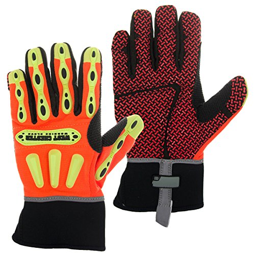 (West Chester R2 86715 Orange Medium Foam/Kevlar/Neoprene/Spandex Cut-Resistant Gloves - ANSI 3, EN 388 3 Cut Resistance - Silicone Palm Only Coating - 10.25 in Length - 86715/M [PRICE is per PAIR])